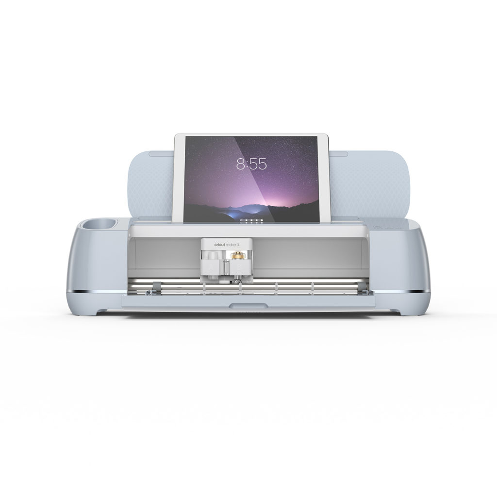 Cricut Maker 3 open with tablet