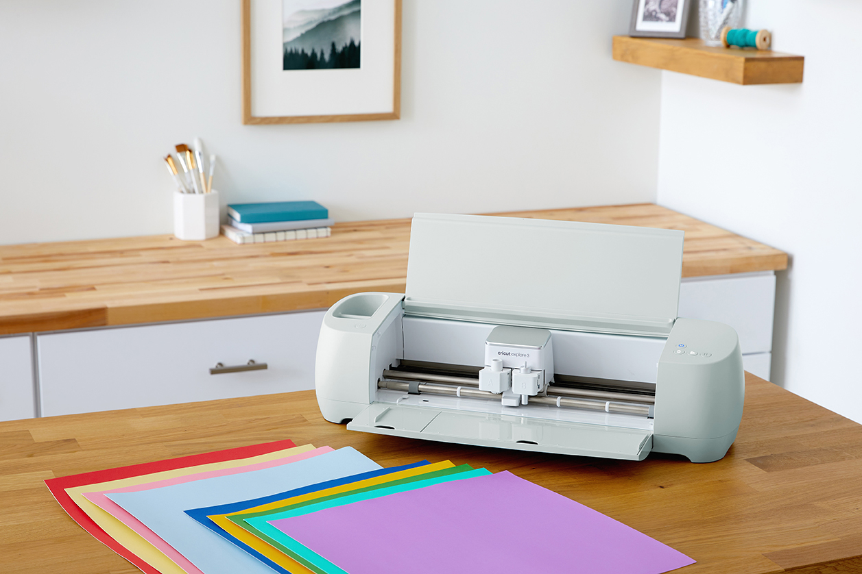 Cricut Explore 3 with Smart Paper on Table