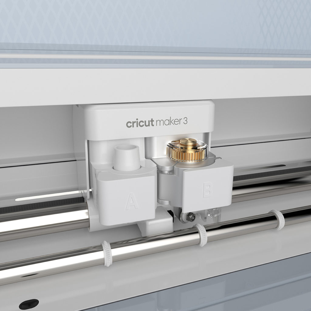 Close up on Cricut Maker 3's adaptive tool system