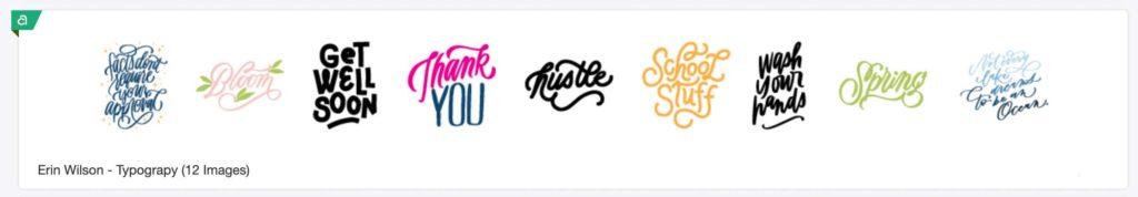 Erin Wilson - Typography Image Set