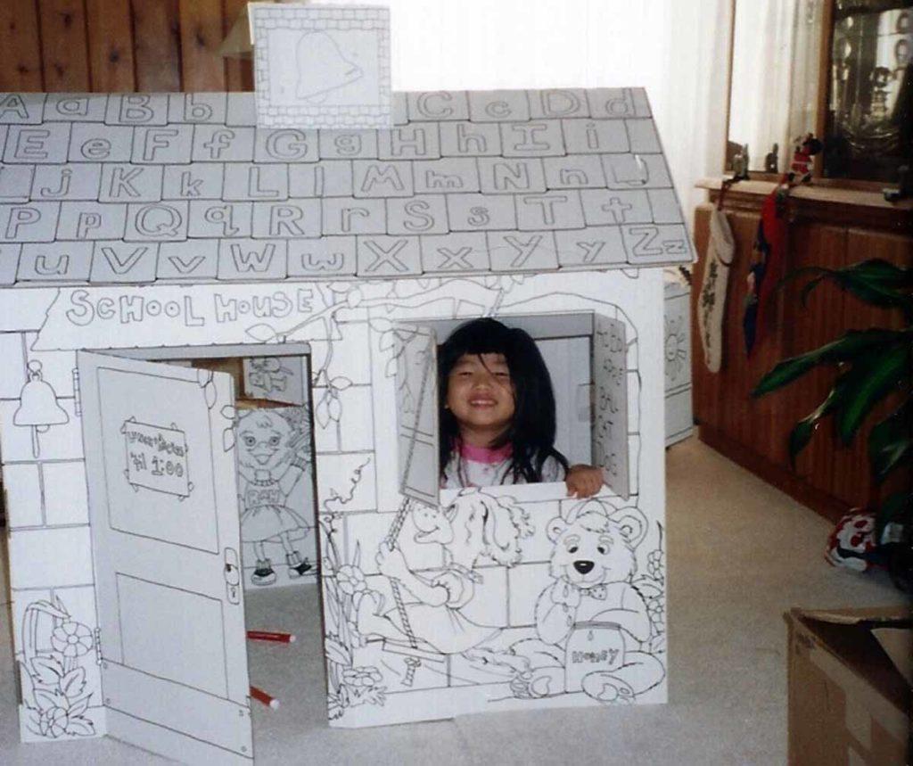 Jasmine Lucey as a child