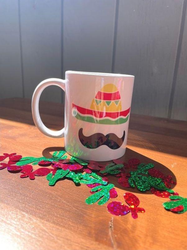 Sombrero and mustache mug