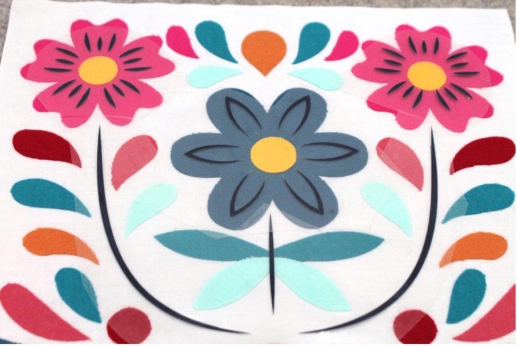 Mexican floral design quilt block