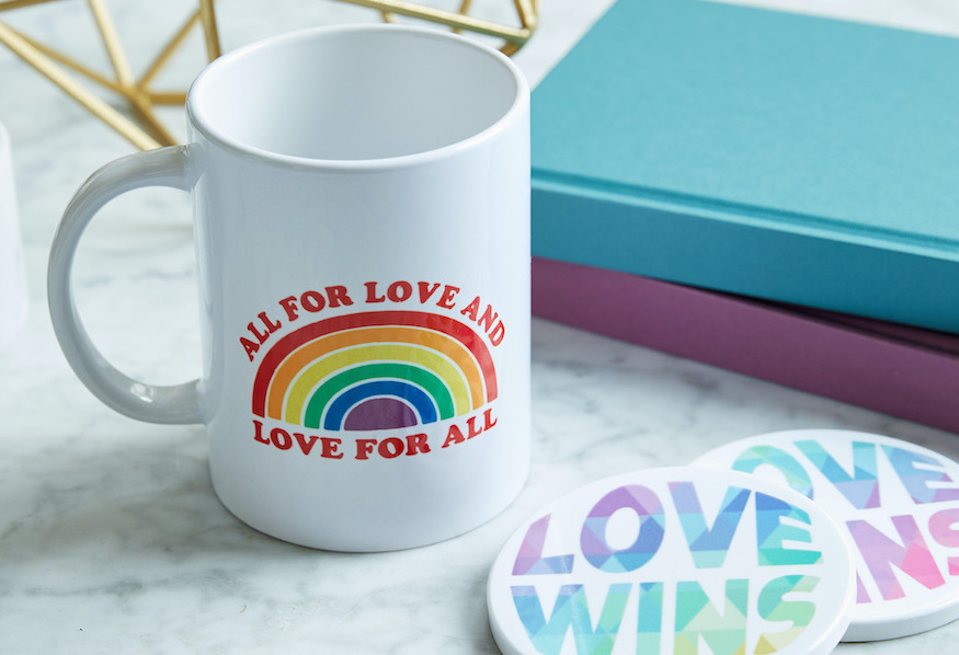 Colorful, customized drinkware to complete your DIY Pride collection