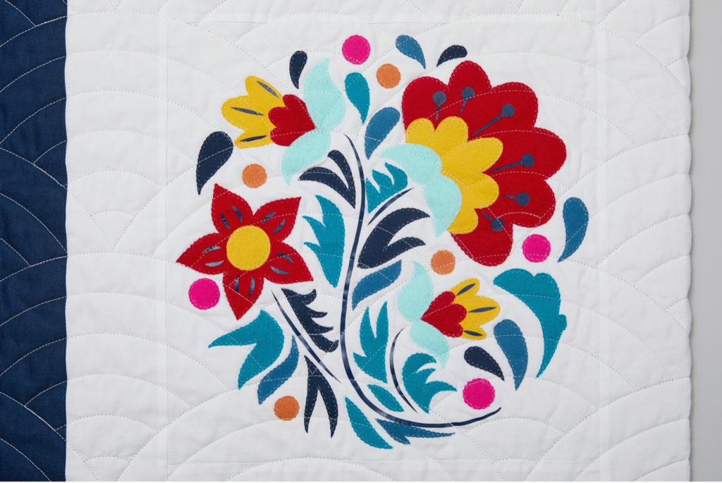 Russia floral block quilt