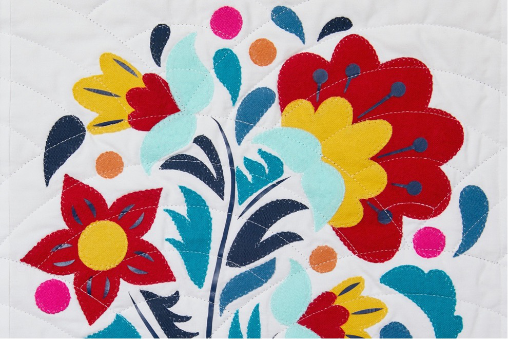 Russia floral block
