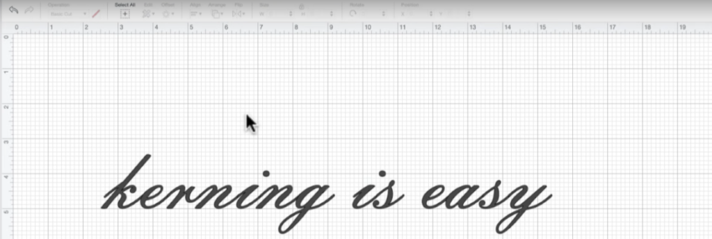 canvas with kerning