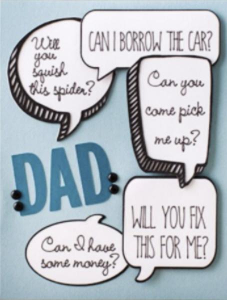 dad speech bubble card