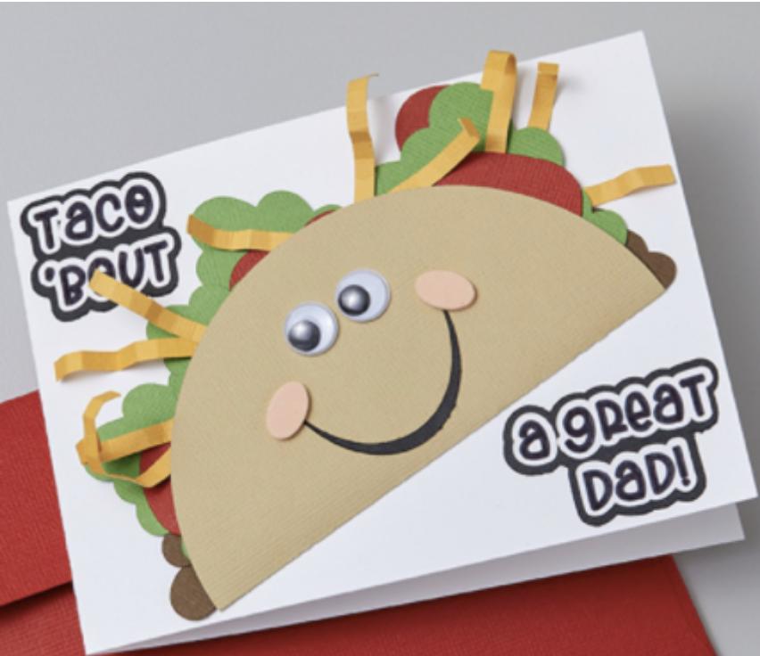 dad taco card