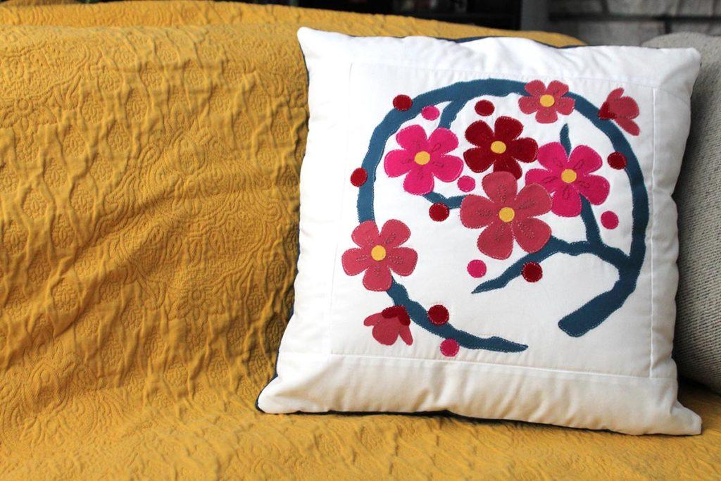 Japan Quilt Block pillow