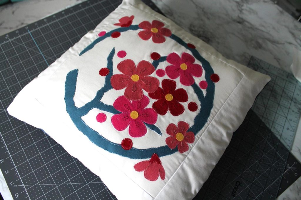 completed pillow sham