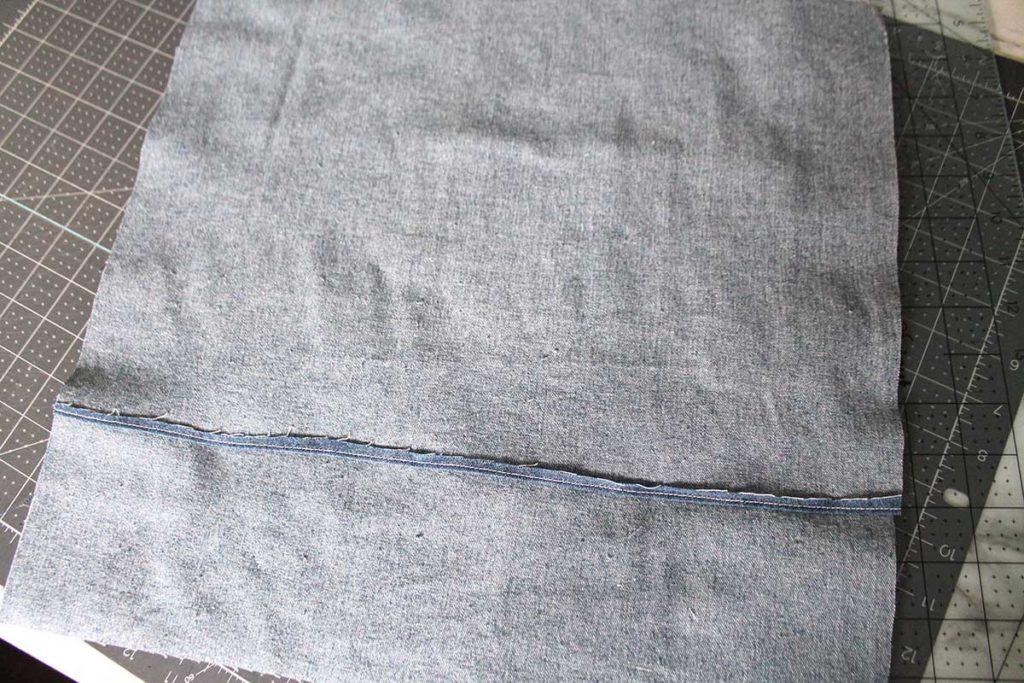 envelope back pillow sham