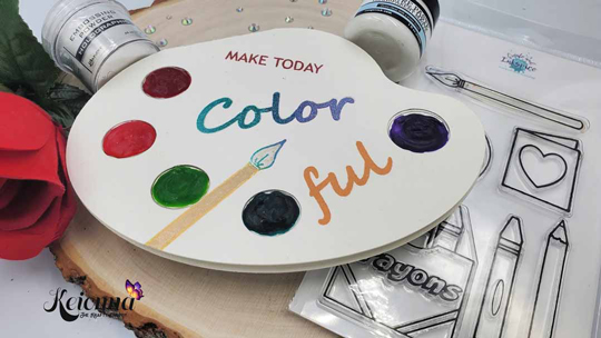 """Mental health greeting card that says """"Make today colorful"""""""