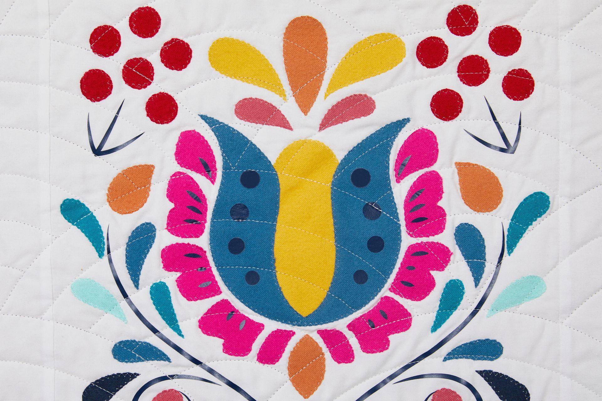 Czech quilt block inspired by Czech flower