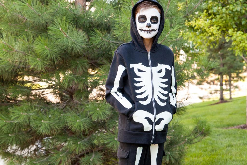 skeleton kid costumes