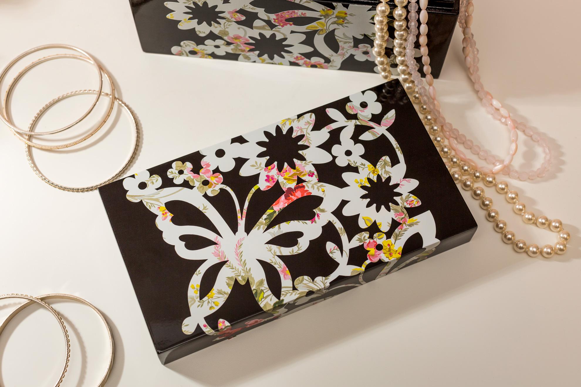 butterfly jewelry case