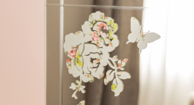 butterfly decal on mirror