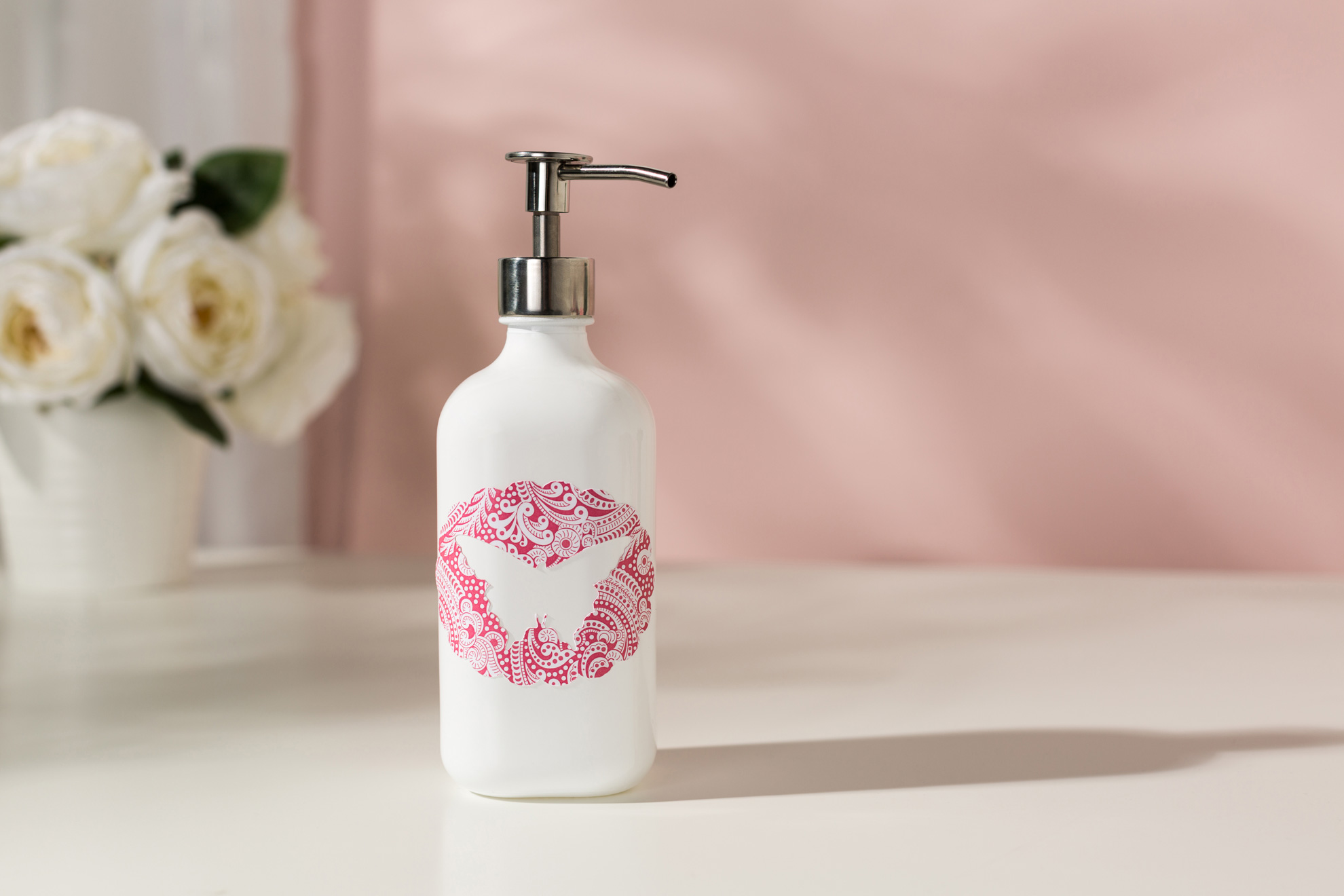 soap dispenser with butterfly design