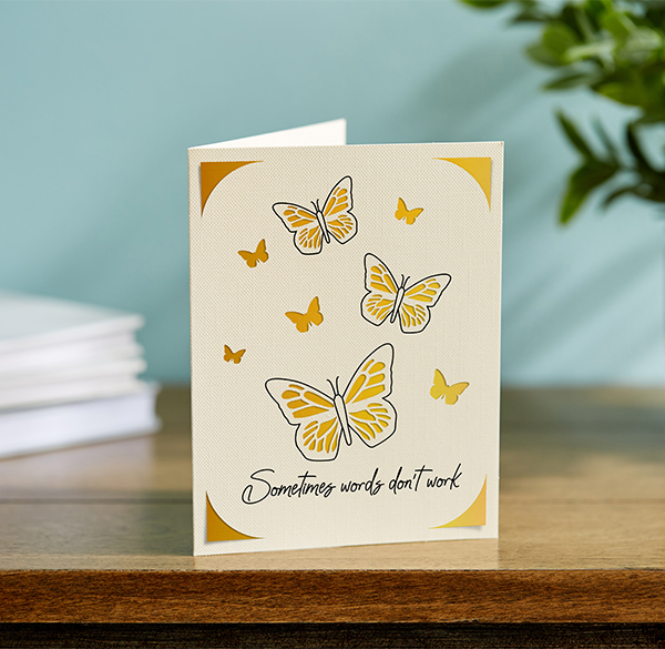 butterfly sympathy greeting card