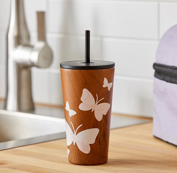 butterfly water tumbler